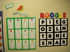 Cool boggle literacy work station