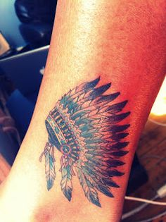 native american  feather and headress tattoos   native american headdress image search results