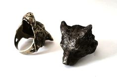Wolf Head ring - by Las Jewelry