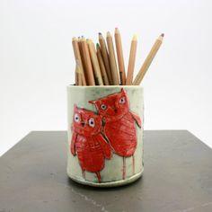 Owl Pencil Cup Pinned by www.myowlbarn.com
