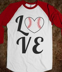 LOVE Quad (Baseball or Softball Sleeves) #baseball #softball #love #heart #summer #cute #MLB #tumblr #shirt #fashion