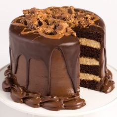 """6"""" Chocolate Layer Cake with Peanut Butter Mousse"""
