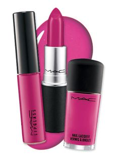 """MAC's Most Popular Colors Ever: """"Girl About Town"""" (a bright fuchsia) #lipstick #lipgloss #makeup"""