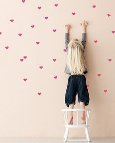 Hearts Wall Decals F