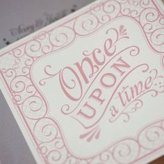 Once Upon a Time wedding invite