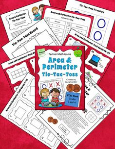 New! Area and Perimeter Tic-Tac-Toss is a partner math review game. Players take a task card from the deck and flip a coin to determine whether they need to find the perimeter or the area of the figure. If their answer is correct, they place an X or an O on the board. Area and Perimeter Tic-Tac-Toss includes a game board, problem cards, and an answer key. Student materials are available in both color and B&W. QR code answers available as a separate purchase. $