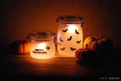 DIY - Halloween-themed sun jars by Aimee from Swellmayde