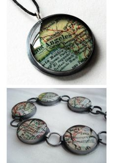 Love maps?  Love travel?  Want to show case where you've been in a unique way?  Make your own personalized bracelet or necklace showcasing the places you've seen!