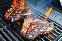 Grilled T-Bone Steaks with Olive Oil, Lemon, Garlic, and Rosemary Marinade   Dad Cooks Dinner