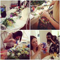 flower crowns, flower crown party, diy flower, crown parti
