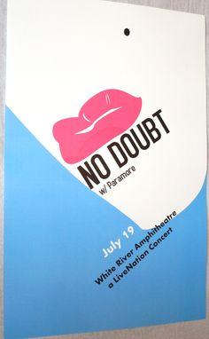 No Doubt reunion tour promo poster.