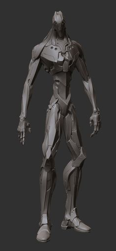 Really great hard surface work in Zbrush from http://www.zbrushcentral.com/ robot