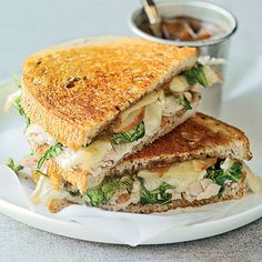 toasted turkey, brie and apple sandwiches