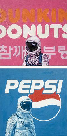 Astronauts & Pop Culture Paintings by Scott Listfield