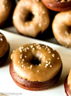 Chocolate Donuts with Salted Caramel Icing