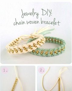Jewelry Tutorial: Chain Woven Bracelet - Click the image for the Tutorial!
