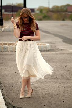sheer, flowy skirt
