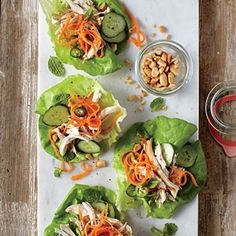Spicy-Sweet Chicken Lettuce Cups | CookingLight.com #myplate, #protein, #veggies