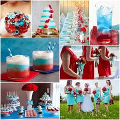 red white and sky blue wedding theme ideas inspiration board