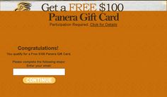 Get a FREE Panera Gift Card