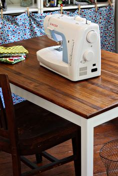 Turn your boring pine IKEA dining room table into an expensive looking craft table!