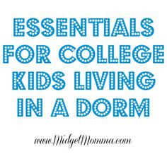 Essentials for College Kids Living in a Dorm
