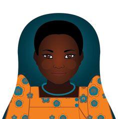 Ugandan Matryoshka Art Print Kids Wall Art by AmyPerrotti on Etsy, $4.00