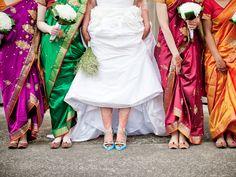 Bridesmaids in Saris