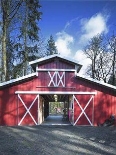 A big open barn.