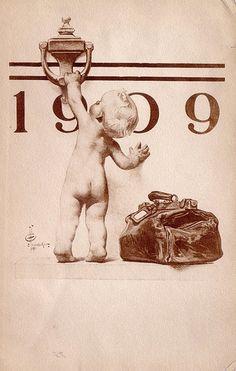New Year Baby -1909 - J. C. Leyendecker
