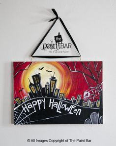 Haunted Boston Halloween Sign Painting - Jackie Schon, The Paint Bar