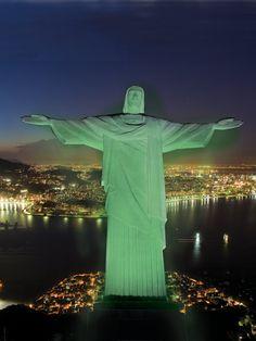 Christ the Redeemer, Rio de Janeiro, Brazil will turn green on March 17