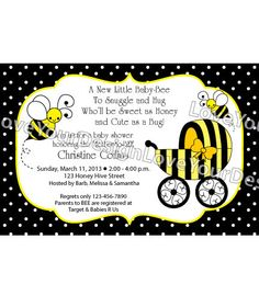 Bumble Bee Party Baby Shower Invitation