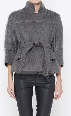 Yves Saint Laurent Grey Jacket | VAUNTE