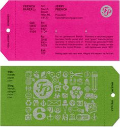 french paper business cards | charles s. anderson