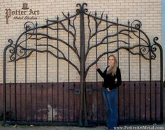 Potter Art Metal Studios: Wrought Iron Tree Gates