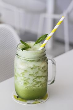 Pineapple, ginger and mint frappe at Meadow Cafe, Surry Hills