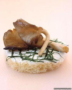 Roasted Mushrooms with Robiola and Truffle Oil - Martha Stewart Weddings Planning & Tools