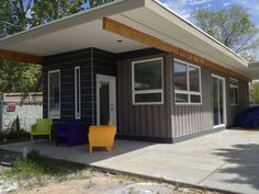 672-square-foot Sarah House, built out of two containers