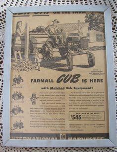 Farmall cub tractors on pinterest international for International harvester wall decor