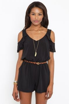 Ruffled Tie Romper from Nasty Gal