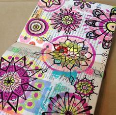 Art journal doodles con color, journal doodl, art journals