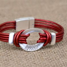 Make this simple leather bracelet in 10 minutes or less!