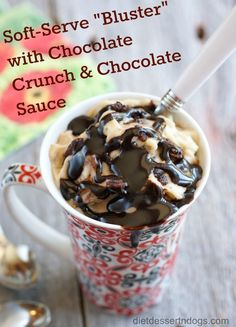 Vegan Dessert Recipes: Soft-Serve with Chocolate Crunch & Drizzle