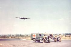 US Eighth Air Force B-17 coming in to land at RAF Deopham Green, Norfolk. Circa 1944.