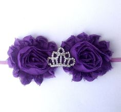 Sofia the First Inspired Shabby Chic Headband