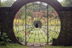 spider web garden gate