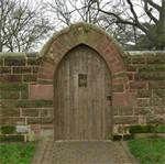 old world garden picture - Bing Images irons, fenc, garden gates, arches, garden doors, wooden garden, gardens, bricks, brick arch