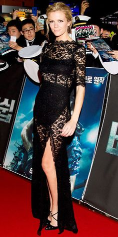 Black Lace Dress  Brooklyn Decker - Look of the Day - InStyle