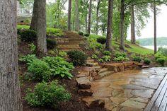 Low maintenance garden pool landscape on pinterest for Low maintenance pool landscaping